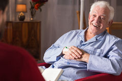 Patient with senile dementia. Horizontal view of patient with senile dementia royalty free stock image
