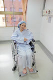 Patient sit on wheelchair Royalty Free Stock Images