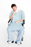 Patient sitting in a wheelchair Royalty Free Stock Photography
