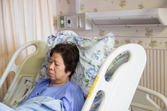 Patient sleeping in hospital Royalty Free Stock Photo
