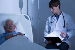 Patient suffering from terminal illness Stock Image
