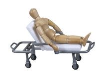 Patient sur le chariot de hôpital à hôpital Photographie stock libre de droits