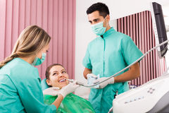 Patient at surgery office royalty free stock image