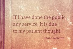 Patient thought Newton Stock Images