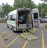 Patient transport taxar Arkivfoton