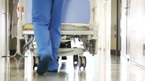 Patient Transportation in Hospital stock footage