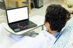 Patient und Computer Lizenzfreies Stockfoto