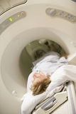 Patient Undergoing For A CAT Scan Stock Images