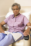Patient Undergoing Chemotherapy Traetment Royalty Free Stock Photography