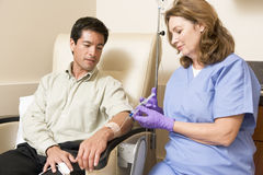 Patient Undergoing Chemotherapy Traetment royalty free stock photos