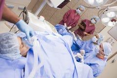Patient Undergoing Egg Retrieval Procedure Stock Photo