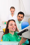 Patient visiting dental clinic Stock Photography