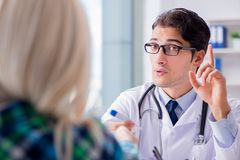 The patient visiting doctor for medical check-up in hospital Stock Photo