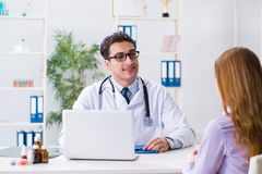 The patient visiting doctor for medical check-up in hospital Stock Images