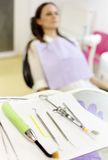 Patient waiting for the dentist Royalty Free Stock Image