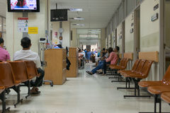 Patient waiting a doctor in hospital Royalty Free Stock Images