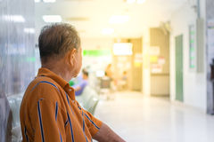 Patient waiting a doctor in hospital Stock Photos