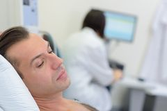 Patient waiting in worry. Patient Stock Images