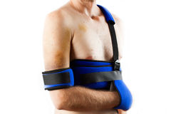 Patient wearing brace Royalty Free Stock Photos