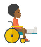Patient in wheelchair Stock Photography