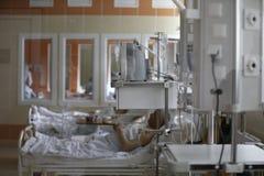 Patienter i intensivvård Arkivbilder