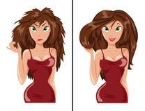 Patienter och sunt hår Royaltyfri Fotografi
