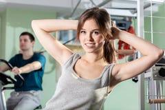 Patienter på sjukgymnastikkliniken Arkivbilder