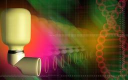 patients d'inhalateur d'asthme utilisés Images stock