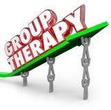 Patients de thérapie de groupe partageant guérissant ensemble le traitement Sessio Images stock