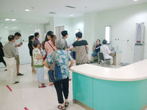 Patients doing eyesight test  Stock Photos