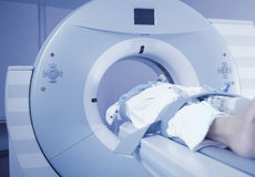 Patients examination on CT scanner Stock Image