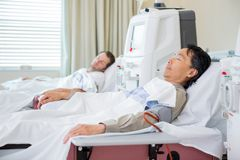 Patients Receiving Renal Dialysis Stock Photography