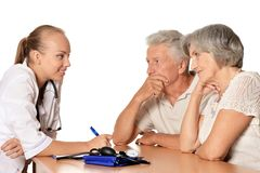 Patients visiting doctor Royalty Free Stock Photography