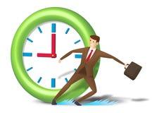 Patim e alcance executivos de pressa no tempo Fotografia de Stock Royalty Free