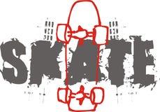 patin illustration de vecteur