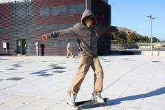patin de garçon Photos libres de droits
