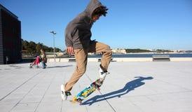 patin de garçon Photo libre de droits