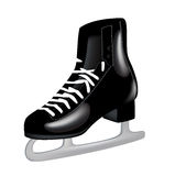 Patin de glace noire simple d'isolement Images stock