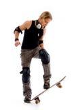 patin mâle d'équitation de panneau photos libres de droits