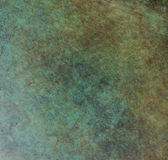 Patina. Green brushed on copper patina royalty free stock image
