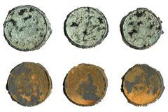 Patina and rust circles set Stock Image