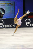 Patinador de hielo del campeón del italiano de Carolina Kostner 2011 Fotos de archivo libres de regalías