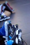 patinadores Imágenes de archivo libres de regalías