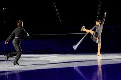 Patinadores de hielo Margarita Drobiazko y Povilas Vanagas Fotografía de archivo