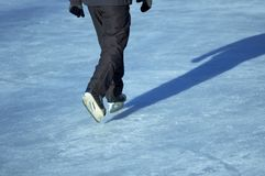Patinage d'homme Photo libre de droits