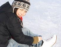 Patinage de glace photographie stock libre de droits
