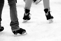 Patinage de glace photographie stock