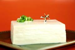 Patinage de glace sur le tofu Image libre de droits