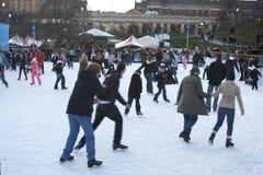 patinage de patinoire Photos stock