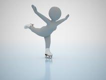 Patinagem artística. Jogos olimpic do inverno. Imagem de Stock